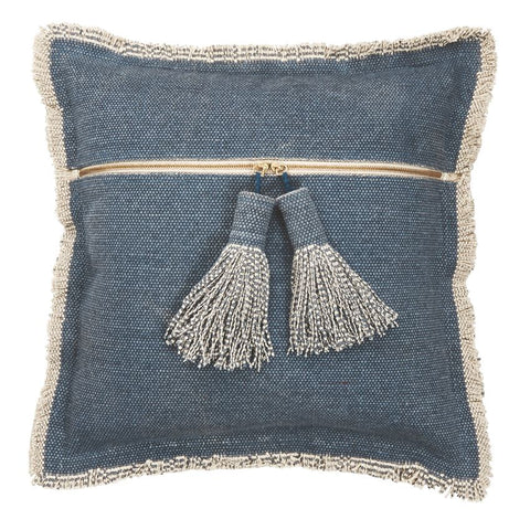 Square Dhurrie Tassel Pillow