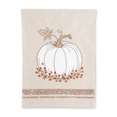 Table Runner w/Embroidered Pumpkin