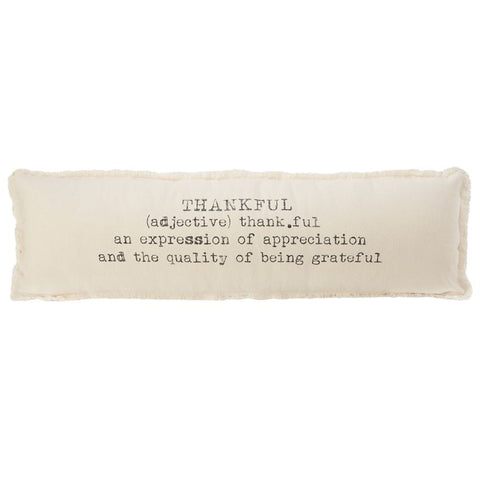 Washed Canvas Thankful Pillow