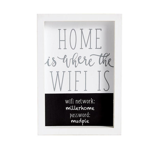 Home Is Where Wifi Plaque