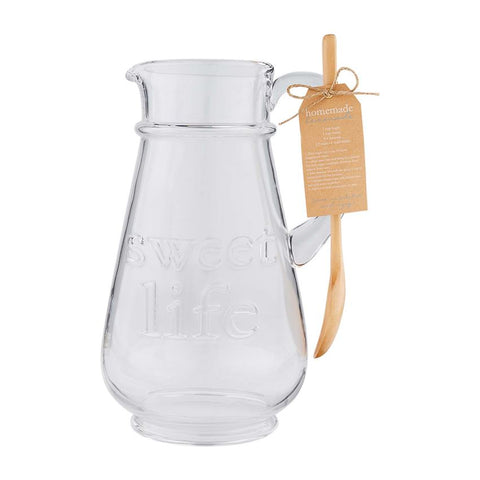 Sweet Life Glass Pitcher