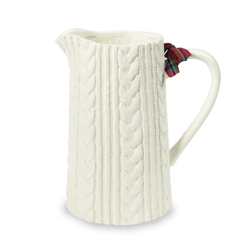 Cable Knit Pitcher