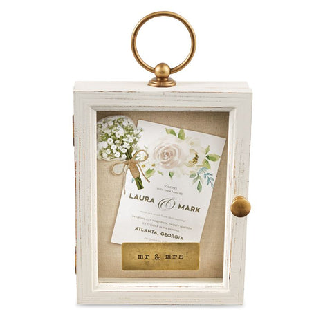 Mr & Mrs Hanging Shadow Box
