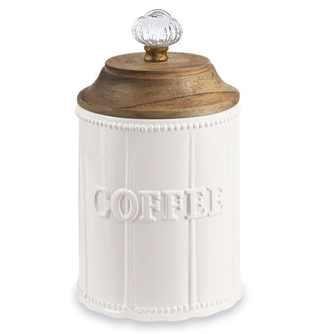 Coffee Canister w/Wooden Top