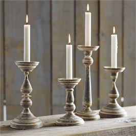 Fluted Tin Candlestick