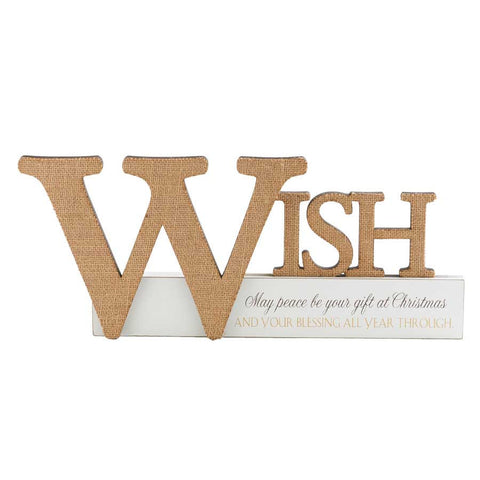 Wish Cutout Tabletop Sign