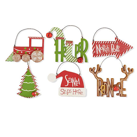 Assorted Christmas Cut Out Ornaments