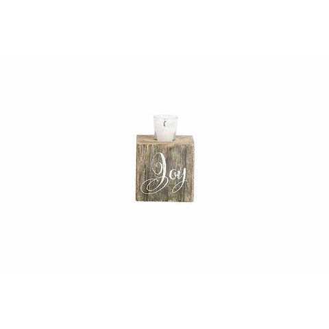 Joy Barn Board Sugar Mold Candle Holder