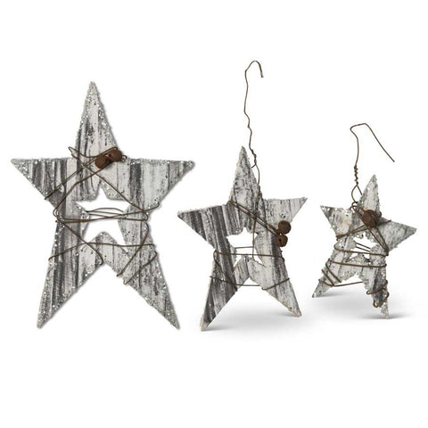 Barnwood Star Ornaments