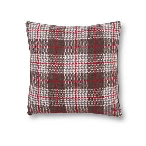 Brown and Gray Plaid Pillow
