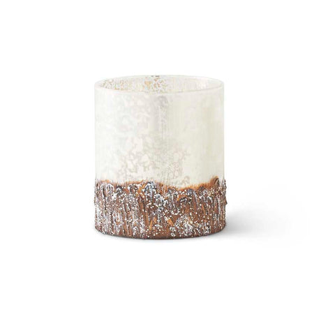 Glass Birch Bark Container