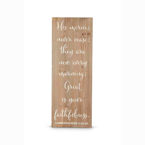 Lamentations 3:22-23 Wall Sign
