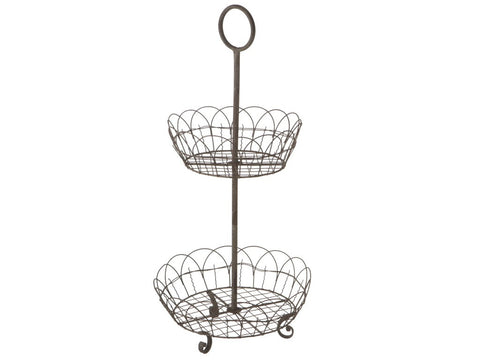 2-Tier Basket Stand, Metal
