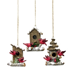 Cardinal Birdhouse Ornament