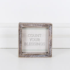 Count Blessings Wood Sign