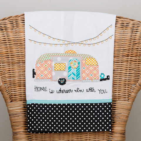 Home Camper Tea Towel