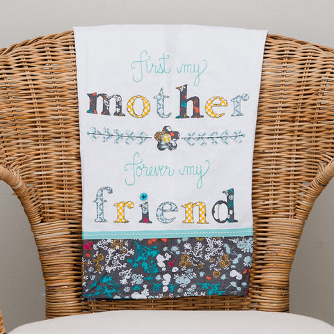 First My Mother Tea Towel