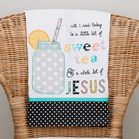 Sweet Tea & Jesus Tea Towel