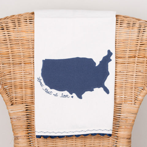 Land That I Love America Tea Towel