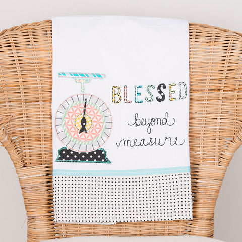 Blessed Beyond Measure Tea Towel