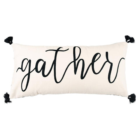 Gather Pillow w/Tassels