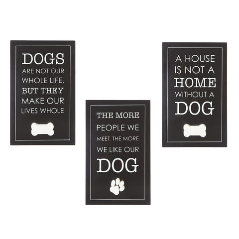 Black Dog Wall Sign