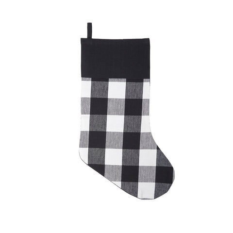 Franklin Black Checked Stocking