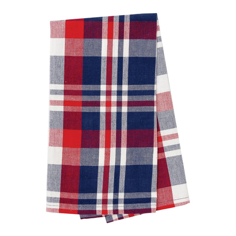 Harbor Plaid Tea Towel