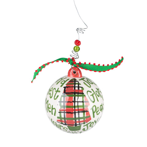 Joy Christmas Tree Ornament