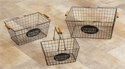 Country Market Wire Baskets