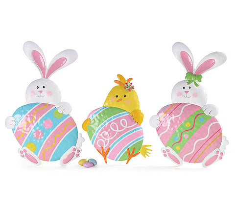 Decor Tin Easter Animals