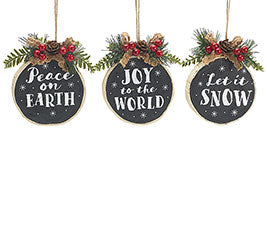 Chalkboard Message Ornament