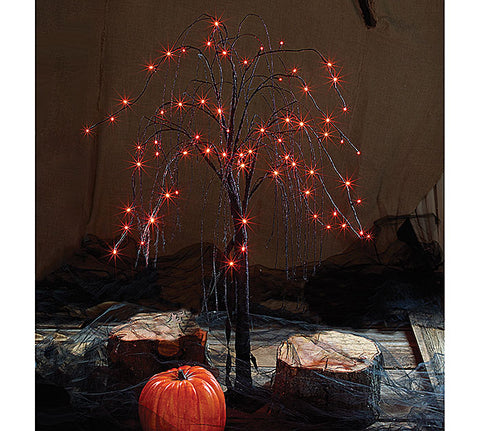 Lighted Black Willow Tree