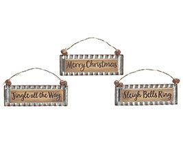Wood Message Ornament