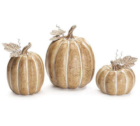 Brown Resin Pumpkin