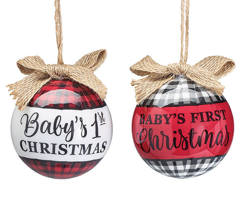 Baby's 1st Christmas Ornament, Round