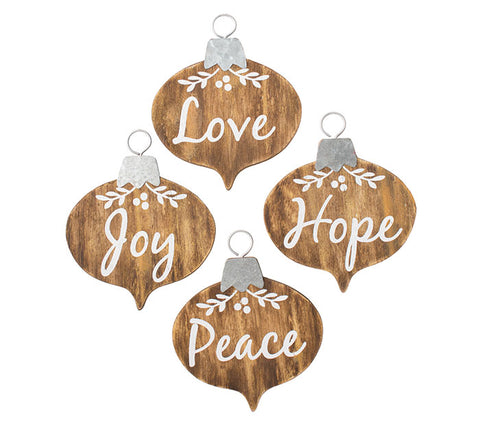 Message Wood Ornament