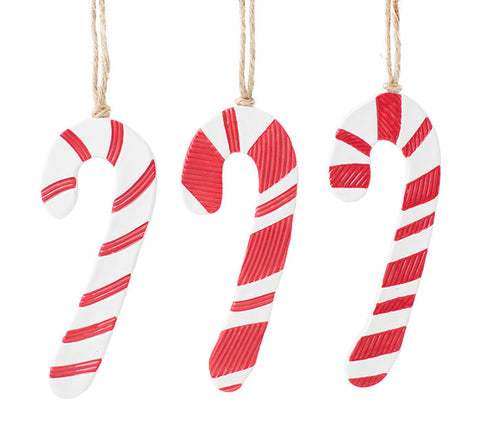 Ceramic Candy Cane Ornament