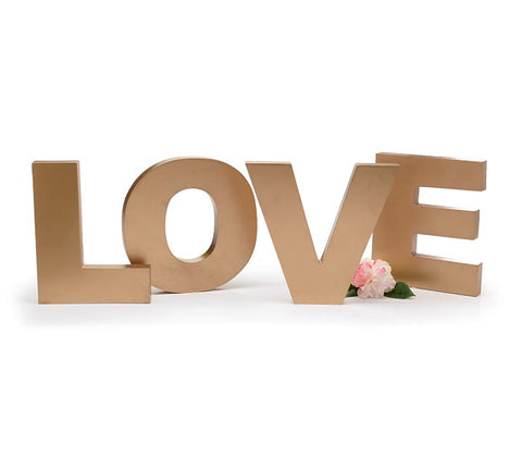 Golden Wood Love Letters