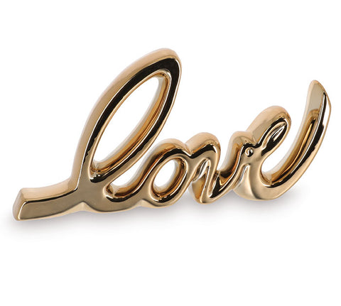 Love Gold Script Decor
