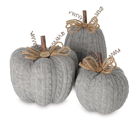 Gray Knit Pumpkin