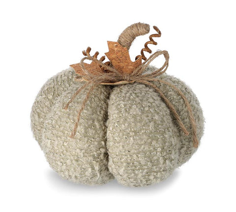 Plush Pumpkin w/Twine Stem