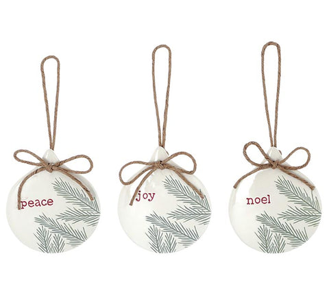 Pine Accent Ornaments