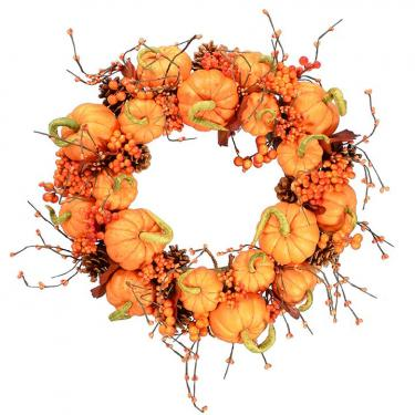 Sweet Pumpkin Wreath