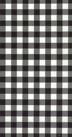 Buffalo Check Black Guest Towel