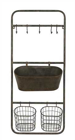 Metal Shelf w/Hooks