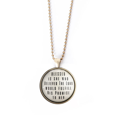 His Promises Bold II Pendant Necklace