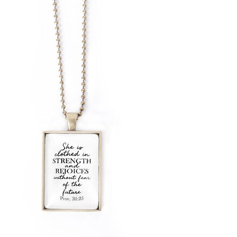 Clothed In Strength Pendant Necklace