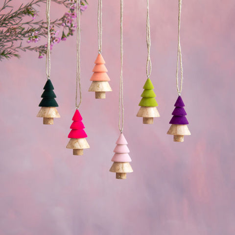 Flocked Tree Ornament