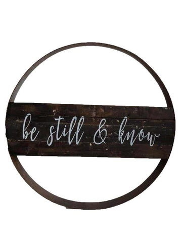 Be Still & Know Barrel Ring